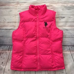 US Polo Pink Women's Puffer Vest